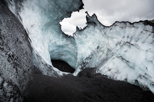 Hermoso paisaje en un glaciar