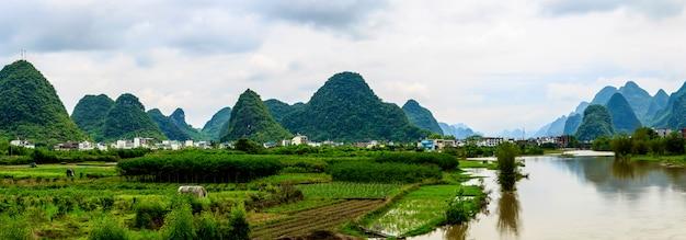 El hermoso paisaje de guilin, guangxi
