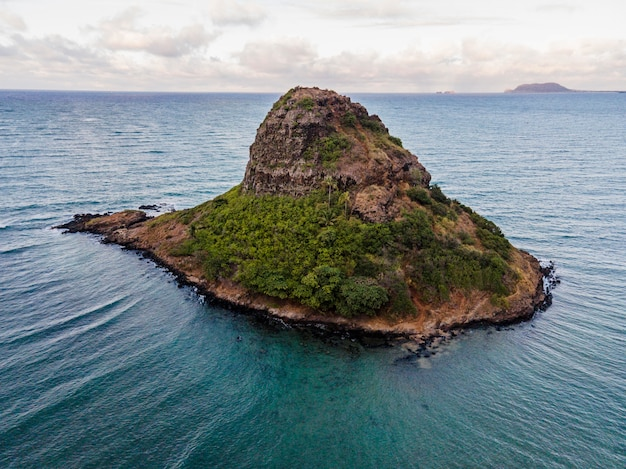 Hermoso paisaje de hawái con océano