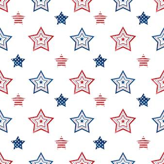 Hermoso patrón con las estrellas.