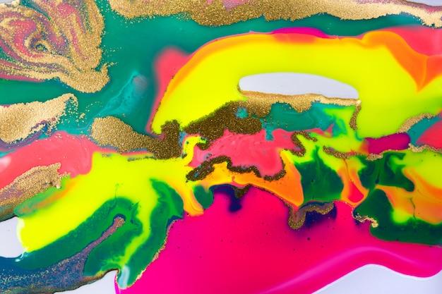 Hermoso patrón de mármol vivo. fondo brillante fluorescente.