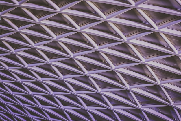 Hermoso techo de celosía que forma un patrón interesante