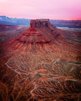 Hermoso tiro de rocas del gran cañón