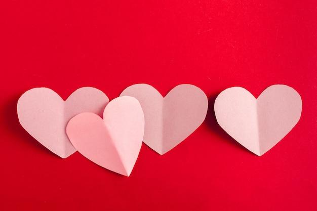 Hermosos corazones de papel para san valentín