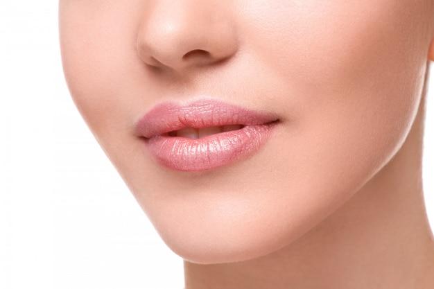 Hermosos labios rosados