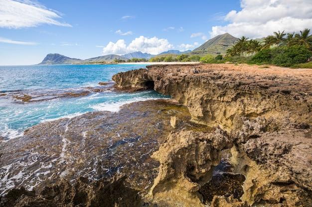 Hermosos paisajes en la isla de oahu, hawaii
