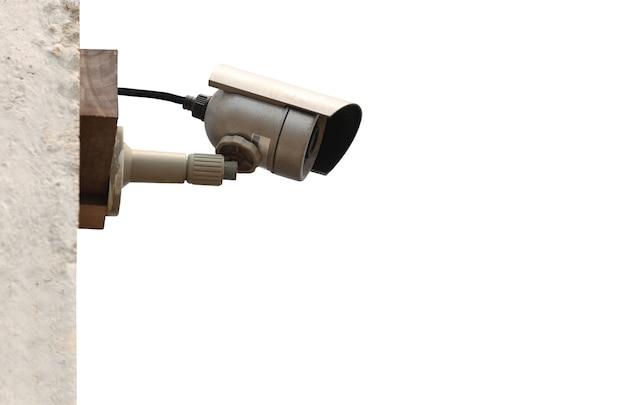 Herramienta de cámara cctv aislada sobre fondo blanco y con trazados de recorte, equipo para sistemas de seguridad.