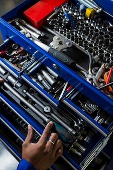 Herramienta de trabajo mecánico de la caja de herramientas de selección