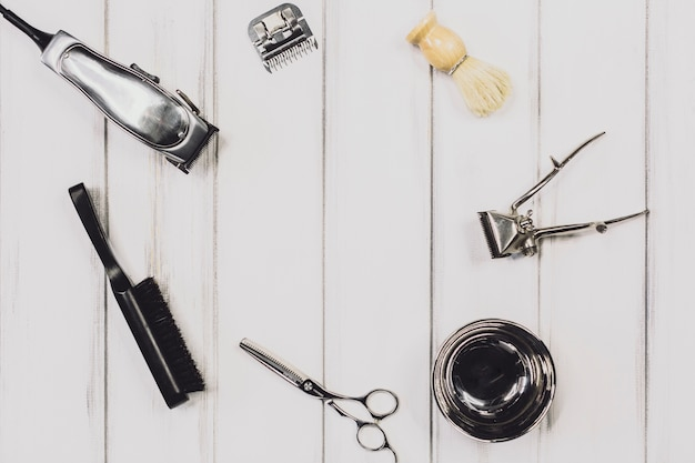 Herramientas para asearse en barbería