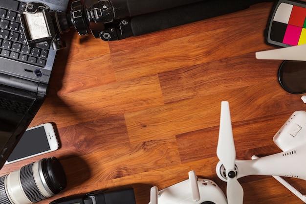 Las herramientas de un fotógrafo profesional y video