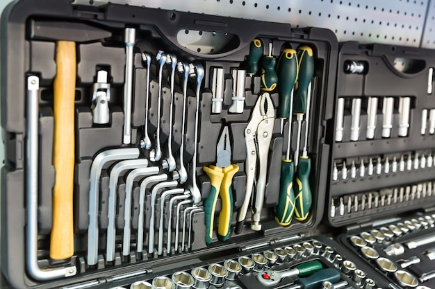 Herramientas mecánicas profesionales para auto servicio