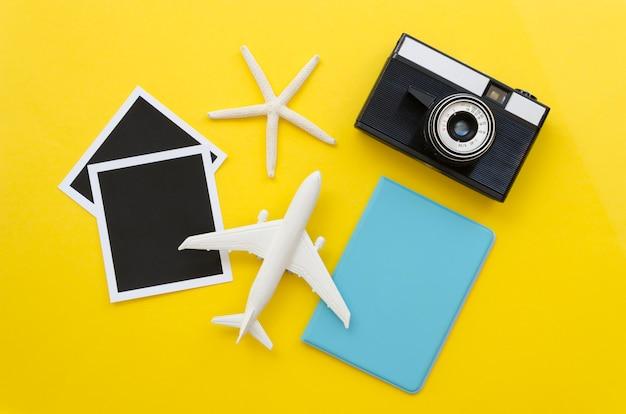 Herramientas de viajero y pasaporte