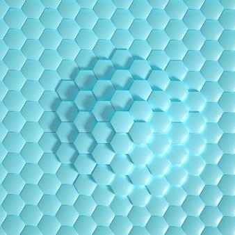 Hexágono de geometría.