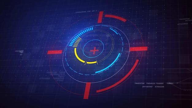 Hi-tech futuristic hud display círculo elementos