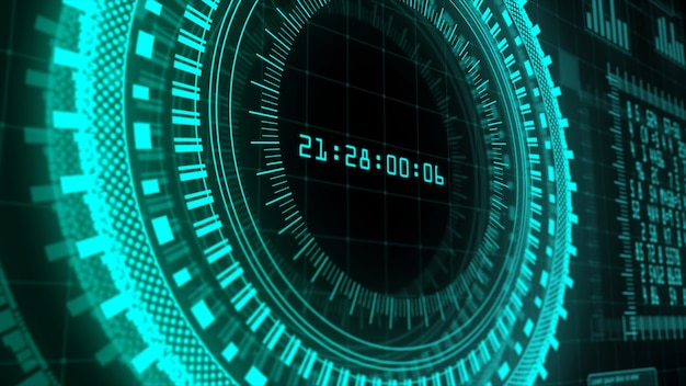 Hi-tech pantalla digital fondo abstracto holográfico