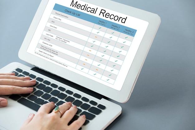 Historial de informe de examen médico historial