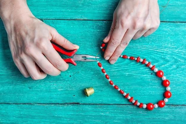 Hobby haciendo joyas