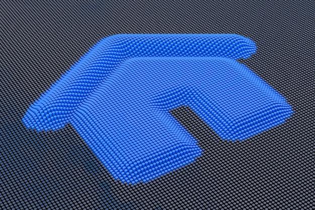 Hogar estilo pixel art. representación 3d