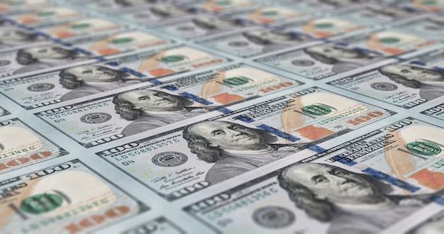 Hoja de billetes de 100 dólares