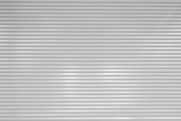 Hoja de metal corrugado, puerta corrediza blanca, textura de persiana enrollable