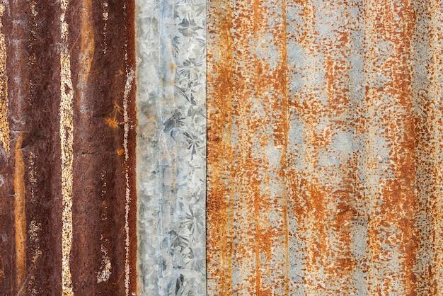 Hoja oxidada de fondo de metal