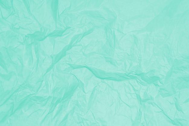 Hoja de papel arrugada verde, fondo, textura