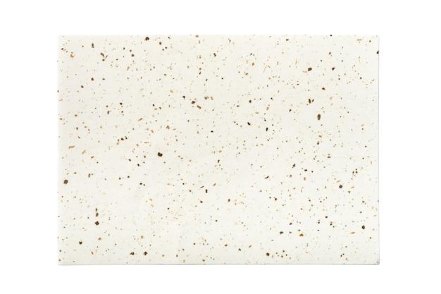 Hoja de papel artesanal tradicional isolted sobre fondo blanco.