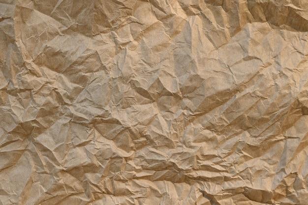Hoja de papel de textura de papel arrugado marrón, las texturas de papel son perfectas para su papel creativo.