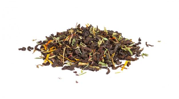 Hoja de té verde aislada