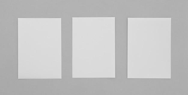 Hojas de arreglo de papel plano
