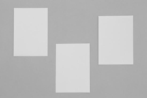 Hojas de arreglo de papel vista superior