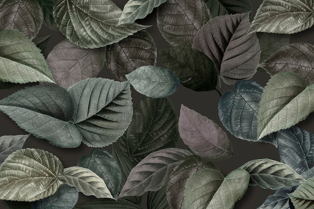 Hojas de color verde metalizado con textura