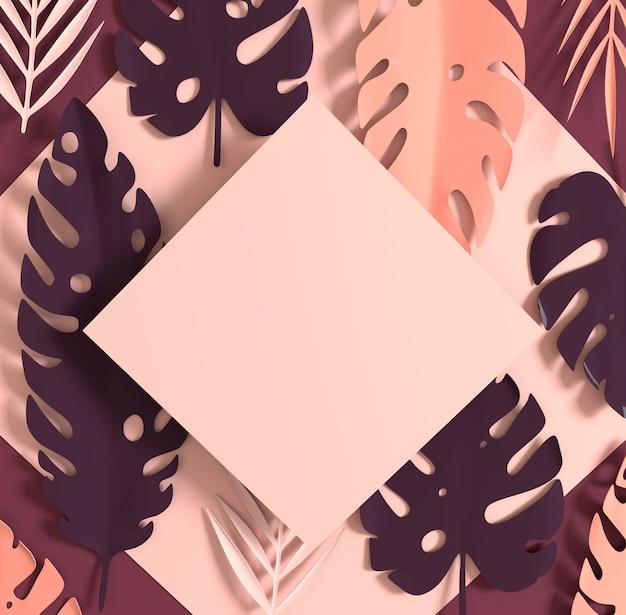 Hojas de palmera de papel tropical