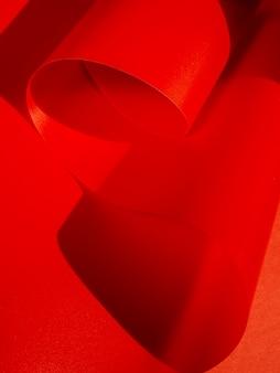 Hojas de papel curvadas de primer plano