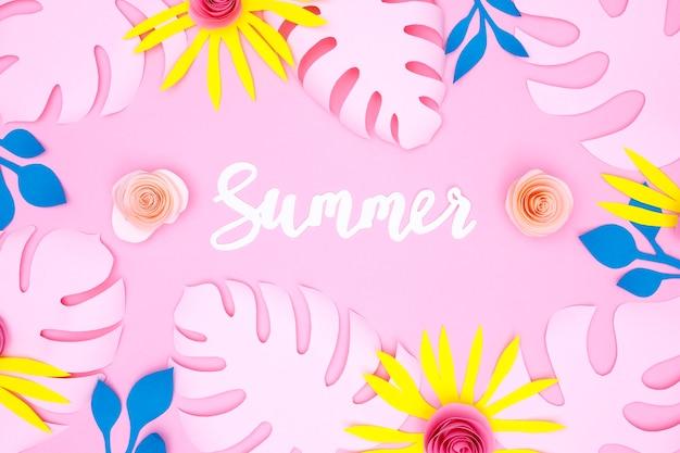 Hojas de verano en papel