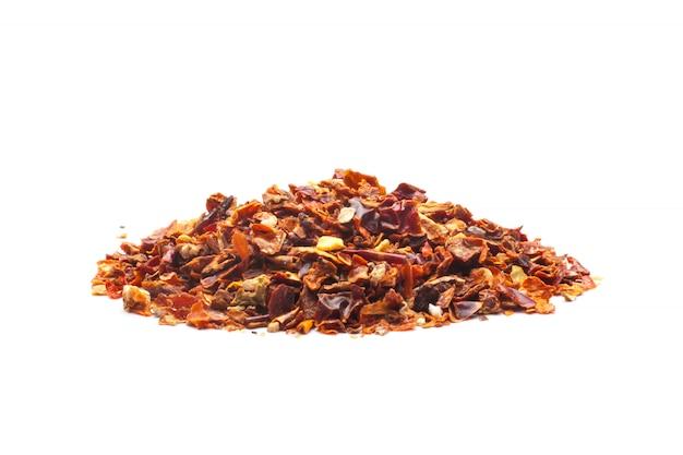 Hojuelas de pimiento rojo seco