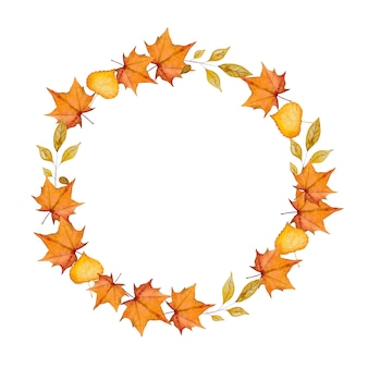 Hola octubre. hola otoño. hola otoño. hermoso dibujo de acuarela