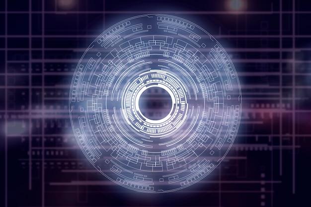 Holograma de interfaz de hud de círculo moderno en el aire