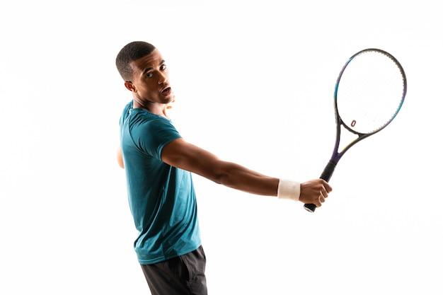 Hombre afroamericano tenista