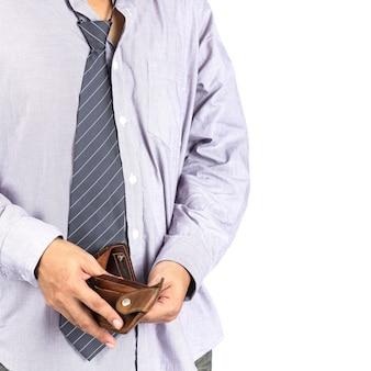 Hombre y bolsillo vacío