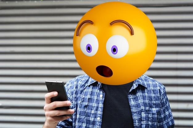 Hombre cabeza emoji