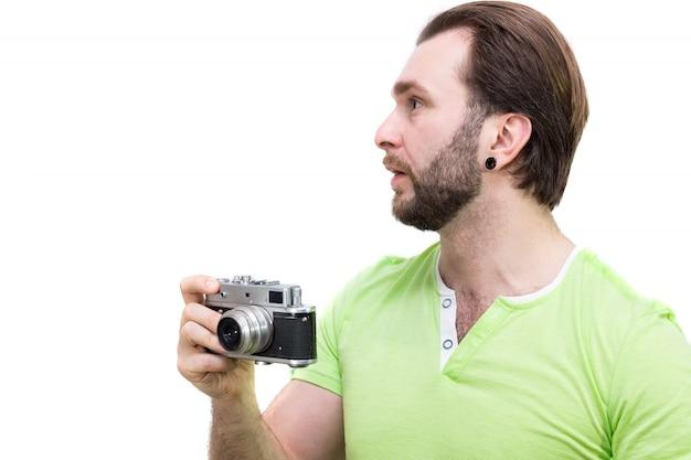 Hombre con cámara
