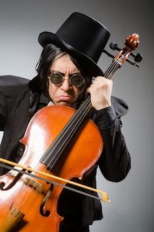 Hombre en concepto de arte musical