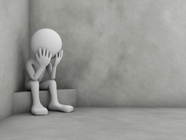 Hombre en depresión