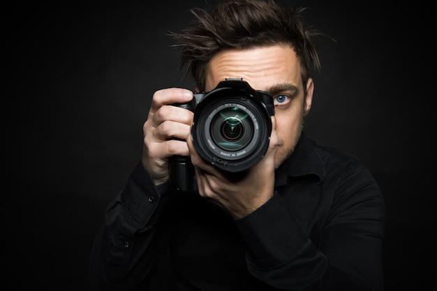 Hombre de fotografia
