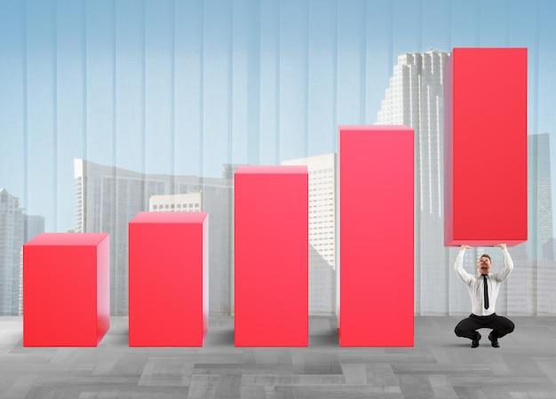 El hombre fuerte de negocios levanta las estadísticas
