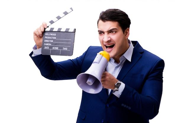Hombre guapo con badajo de película