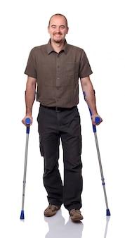 Hombre con muleta