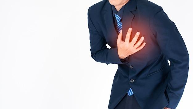 Hombre de negocios ataque al corazón