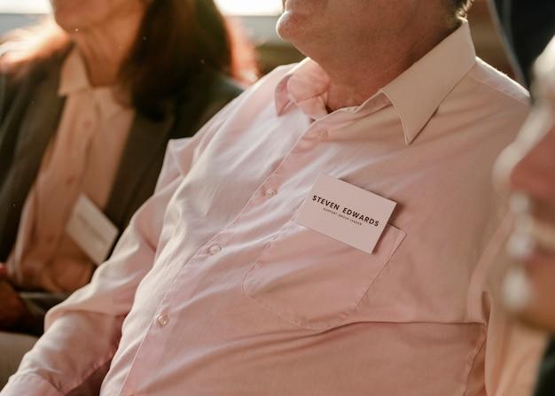 Hombre de negocios, sentado, en, un, reunión